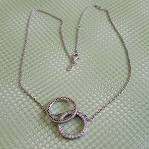 Pandora Circle of Sparkle necklace and ring